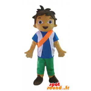 Boy Mascot, tenåring, skolegutt med en oransje pannebånd - MASFR23542 - Maskoter gutter og jenter