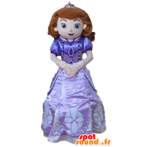 Princess Maskot, v krásné fialové šaty