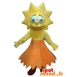 Mascot Lisa Simpson, de beroemde dochter van de Simpsons-serie