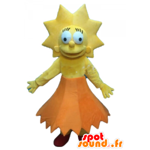 Mascot Lisa Simpson, the famous daughter of the Simpsons series - MASFR23556 - Mascots the Simpsons