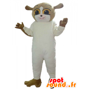 Squirrel mascot, brown and white lemur - MASFR23574 - Mascots squirrel