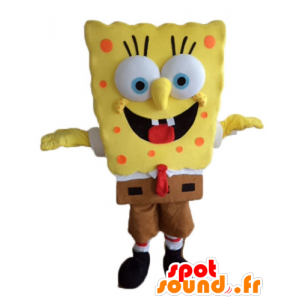 Mascot SpongeBob, caráter amarelo dos desenhos animados - MASFR23597 - Mascotes Bob Esponja