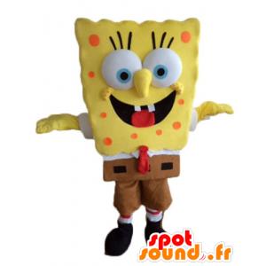 Mascotte de Bob l'éponge, personnage jaune de dessin animé
