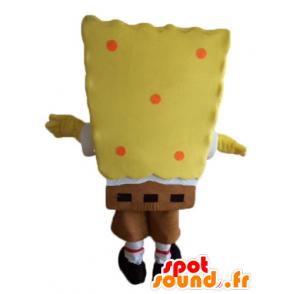 Mascotte de Bob l'éponge, personnage jaune de dessin animé - MASFR23597 - Mascottes Bob l'éponge