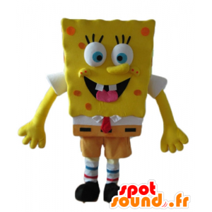 Mascot SpongeBob, caráter amarelo dos desenhos animados - MASFR23600 - Mascotes Bob Esponja