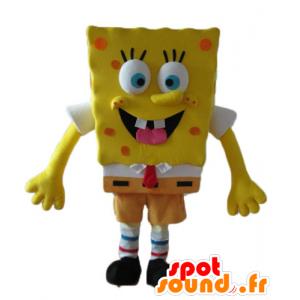 Maskot SpongeBob, žlutá kreslená postavička - MASFR23600 - Bob houba Maskoti