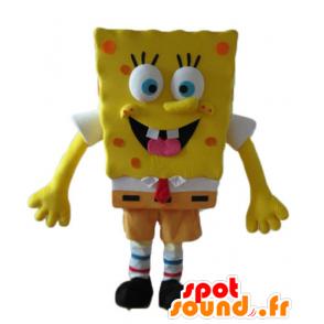 Mascotte de Bob l'éponge, personnage jaune de dessin animé - MASFR23600 - Mascottes Bob l'éponge