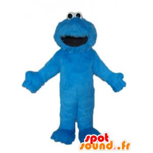 セサミストリートの有名な青い人形、マスコットエルモ-MASFR23632-マスコット1rueセサミエルモ