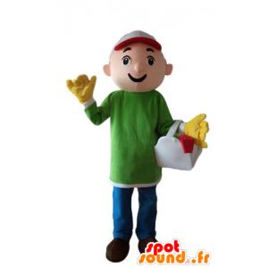 Trabajador Mascotte, carpintero, manitas