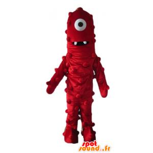 Maskotti ulkomaalainen cyclops punainen jättiläinen ja hauska - MASFR23634 - Mascottes non-classées