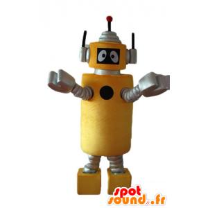 Maskottchen-Plex, die gelbe Roboter Yo Gabba Gabba - MASFR23636 - Maskottchen Yo Gabba Gabba