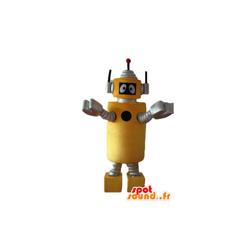 Mascot Plex, the yellow robot Yo Gabba Gabba - MASFR23636 - Mascots Yo Gabba Gabba