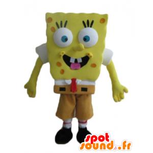 Maskot SpongeBob, žlutá kreslená postavička - MASFR23639 - Bob houba Maskoti
