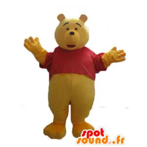 Μασκότ Winnie the Pooh, διάσημο κίτρινο καρτούν αρκούδα