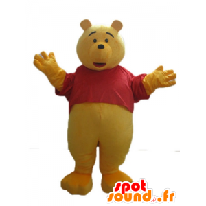 Mascotte de Winnie l'ourson, célèbre ours jaune de dessin animé - MASFR23640 - Mascottes Winnie l'ourson
