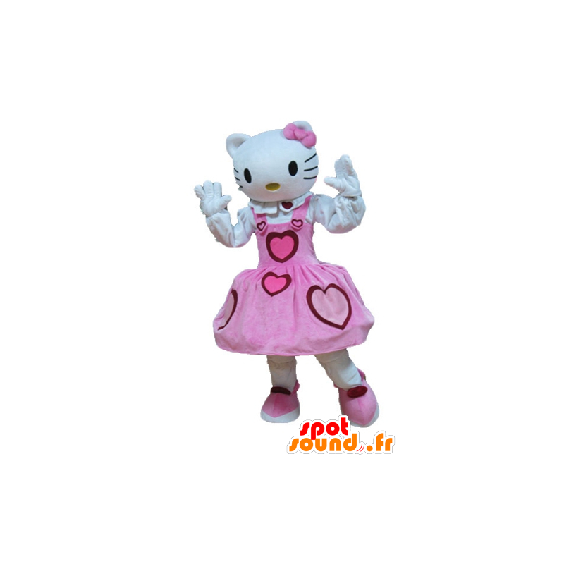 Mascotte d'Hello Kitty, célèbre chat de dessin animé - MASFR23642 - Mascottes Hello Kitty
