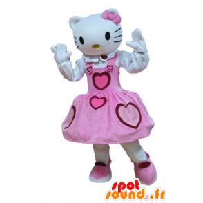 Mascot Hello Kitty, the famous cartoon cat - MASFR23642 - Mascots Hello Kitty
