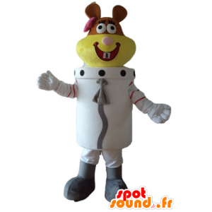 Astronaut mascot beaver, beaver space