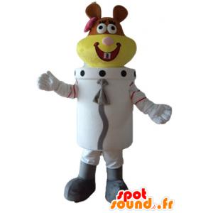 Astronauta mascotte beaver, spazio beaver
