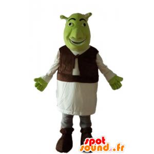 Maskot Shrek, slavný zelený zlobr karikatura - MASFR23654 - Shrek Maskoti