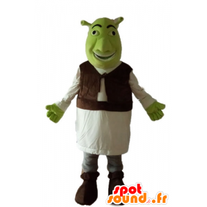 Shrek mascot, the famous green ogre cartoon