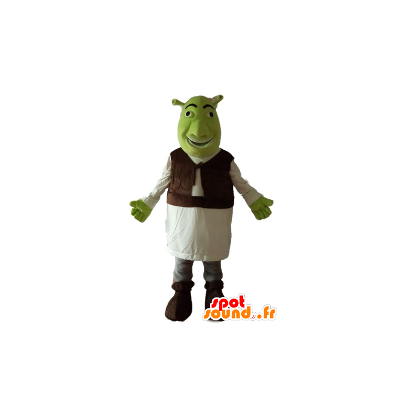 Shrek mascot, the famous green ogre cartoon - MASFR23654 - Mascots Shrek