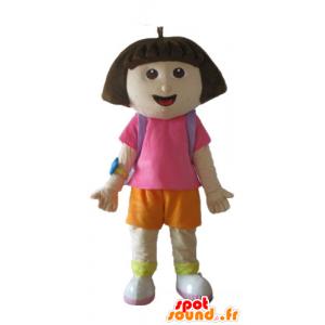 Mascotte de Dora l'exploratrice, célèbre fille de dessin animé - MASFR23666 - Mascottes Dora et Diego