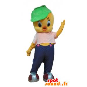 Mascotte de Titi, célèbre canari jaune des Looney Tunes