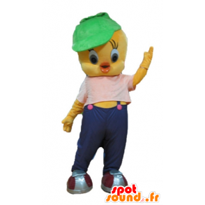 Titi mascot, famous canary yellow Looney Tunes - MASFR23672 - Mascots Tweety and Sylvester