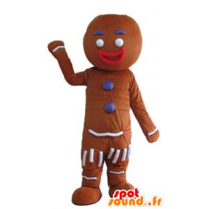 Ti cookie maskot, kjent pepperkaker i Shrek - MASFR23675 - Shrek Maskoter