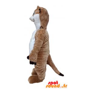 Mascotte de lémurien marron et blanc, de Timon - MASFR23676 - Animaux de la forêt