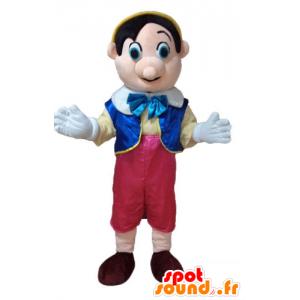 Pinocchio maskot, berømt tegneseriefigur - Spotsound maskot