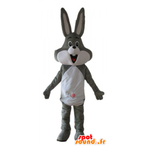 Mascotte de Bugs Bunny, célèbre lapin gris des Looney Tunes - MASFR23681 - Mascottes Bugs Bunny