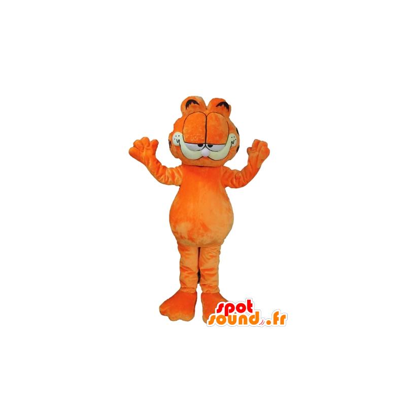 Garfield Mascote Laranja Famoso Gato Dos Desenhos Animados Em