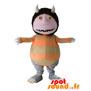 Mascot gnome, pixie, strange creature ave horns - MASFR23684 - Missing animal mascots