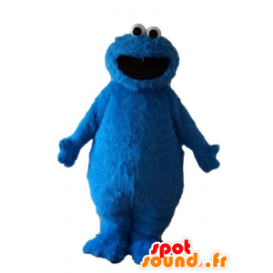 Elmo mascot, hairy monster, blue puppet