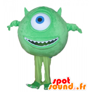Mascot Mike Wazowski beroemde personage uit Monsters en Co. - MASFR23696 - Monster & Cie Mascottes