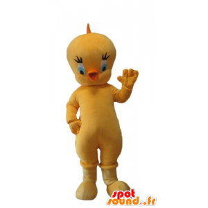 Titi mascot, the famous canary yellow Looney Tunes