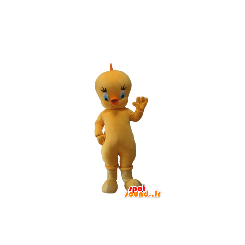 Titi mascot, the famous canary yellow Looney Tunes - MASFR23714 - Mascots Tweety and Sylvester