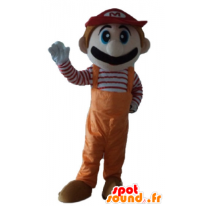 Μασκότ Mario, διάσημο βίντεο χαρακτήρα παιχνίδι - MASFR23732 - Mario Μασκότ