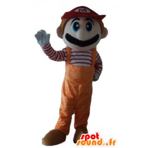 Maskottchen Mario, dem berühmten Videospiel-Charakter