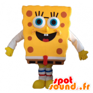 SpongeBob mascotte, carattere fumetto giallo - MASFR23733 - Mascotte Sponge Bob