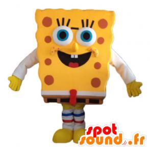 Mascotte de Bob l'éponge, personnage jaune de dessin animé - MASFR23733 - Mascottes Bob l'éponge