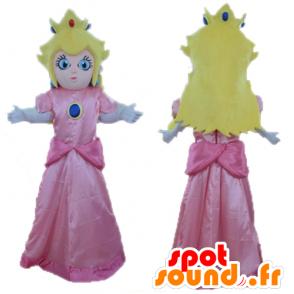 Mascot Princess Peach, Mario famous character - MASFR23735 - Mascots Mario