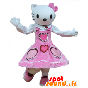 Mascot Hello Kitty, de beroemde witte kat cartoon - MASFR23738 - Hello Kitty Mascottes