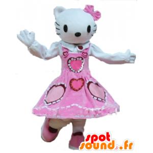Maskottchen Hallo Kitty, der berühmte weiße Katzen-Karikatur - MASFR23738 - Maskottchen Hello Kitty