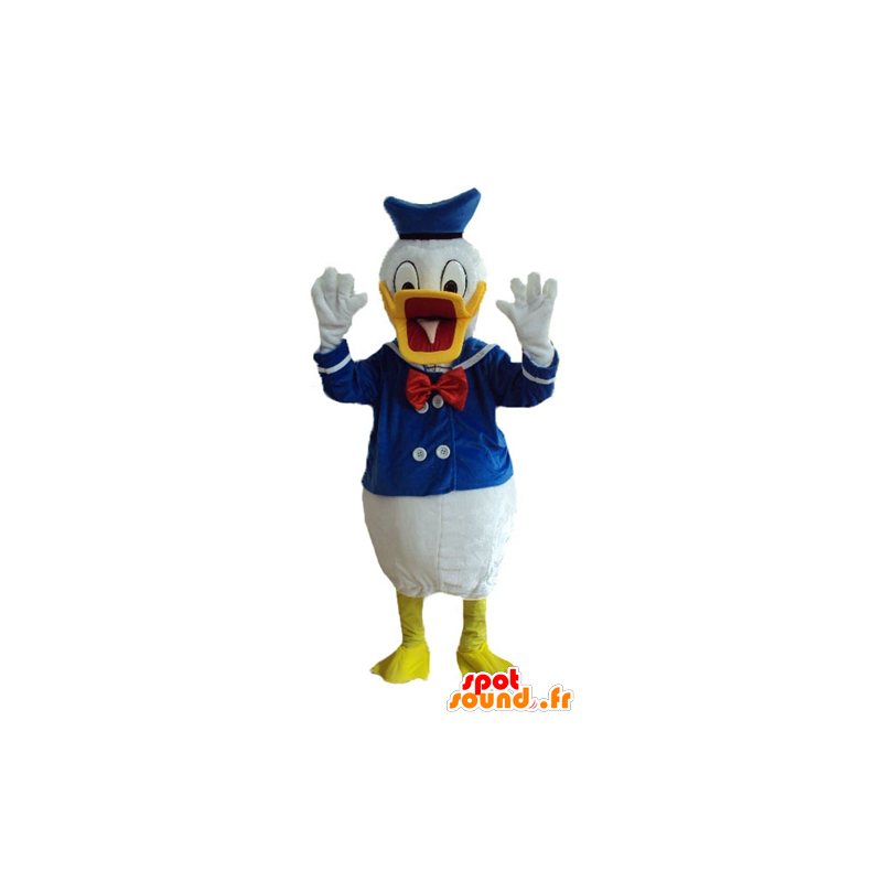 Donald Duck mascot, famous duck dressed in sailor - MASFR23750 - Donald Duck mascots