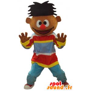 Mascotte d'Ernest, célèbre marionnette de Rue Sésame - MASFR23764 - Mascottes 1 rue sesame Elmo