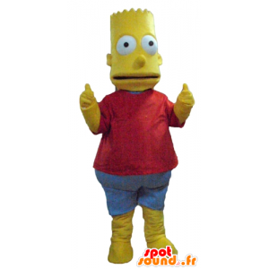 Bart Simpson maskot, berømt tegneseriefigur - Spotsound maskot