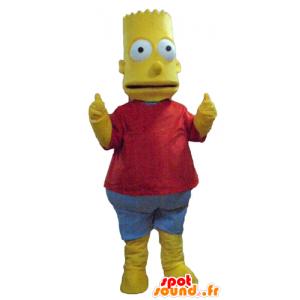 Mascotte Bart Simpson, berømt tegneseriefigur